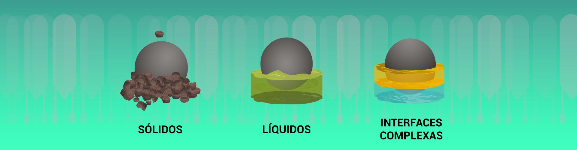 A RF Admitância é capaz de realizar a medição de sólidos, líquidos e interfaces complexas.